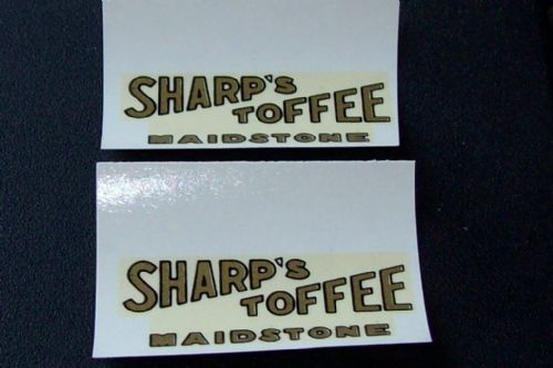 "Dinky Toys 28 Series Type 2 van ""SHARP'S TOFFEE MAIDSTONE"" Transfer Set TRANSFERS / DECALS"